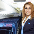 Stock Photo: Air hostess (stewardess)
