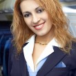 Stock Photo: Air hostess (steweardess)