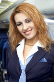 Air hostess (steweardess) — Stock Photo