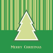 Green Christmas card with tree — Stock Vector