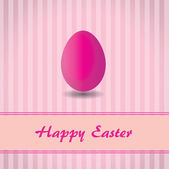 Pink background with stripes and pink easter egg — Stock Vector
