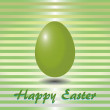 Green striped card with easter eggs — Stock Photo