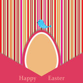 Easter retro card — Stock Vector