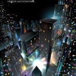 Yeni yıl arifesinde şehir — Stok Vektör