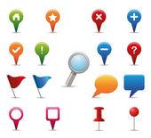 Conjunto de ícones de gps. — Vetorial Stock