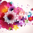 Abstract floral spring background. - Stock Vector
