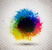 Colorful ink splash banner. — Stock Vector