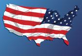 USA Map. — Stock Vector