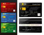 Set of Credit card. — Stock Vector