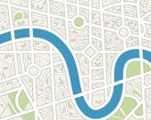 Generieke city kaart. — Stockvector