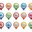 Vector de stock : Communication icons.