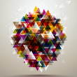Abstract Background with triangle pattern. - Image vectorielle