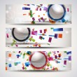 Set of abstract header-banner. — Vector de stock