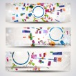 Set of abstract header-banner. - Stock Vector