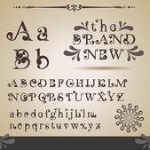 Alfabeto swirly. — Vettoriale Stock
