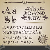 Swirly alfabetet. — Stockvektor