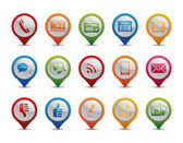 Communication icons. — Vector de stock