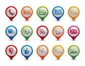 Meddelande-ikoner. — Stockvektor