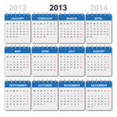 Calendar 2013 with US-Holidays — Cтоковый вектор