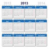 Kalender 2013 med oss-semester — Stockvektor