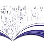 Résumé livre avec lettres — Vecteur