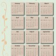 Vettoriale Stock : Calendar 2013 with US-Holidays