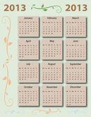 Calendar 2013 with US-Holidays — Stock Vector