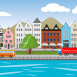 City in Germany — Stock Vector