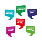 Perguntas — Vetor de Stock