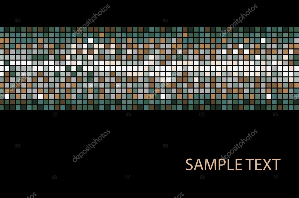 Abstract multicolor lights disco tile vector background. — Stock Vector #10479044
