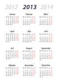 Kalender 2013 DIN-Format — Stock Vector