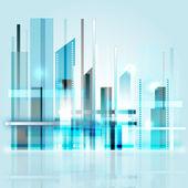 Stadt in der Zukunft — Stock Vector