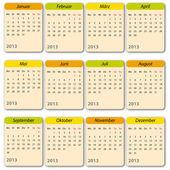 Kalender 2013 — Vector de stock