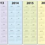 Calendar 2013 - 2016 — Stock Vector