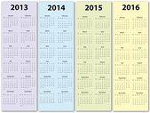 Calendar 2013 - 2016 — Vettoriale Stock