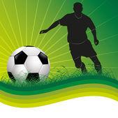 Fussball - soccer Hintergrund — Stock Vector