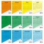 Kalender 2013, deutsch — Stock Vector