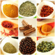 Food ingredients collage — Stock Photo