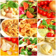italiensk mat collage — Stockfoto #8319026