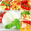 Italian food collage — Stock Photo #8319030