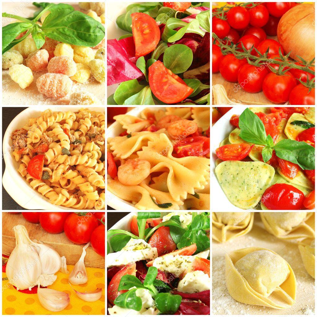 italienische küche-collage — stockfoto © kuvona #8319026