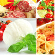 Italian food collage — Stock Photo #8354161