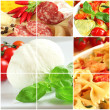 Italian food collage — Stock Photo #8354164
