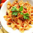 Dish of pastfarfalle — Foto de stock #8599391