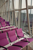 Violet Air port seat — Stock Photo