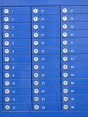 Caselle blu — Foto Stock