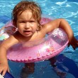 Girl swimming — Stock Photo #9335367