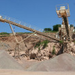 Gravel extraction — Stock Photo