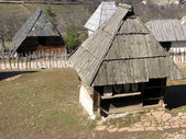 Old traditional houses from Serbia — Stock Photo