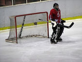 Hockey goalkeeper — Stock Photo